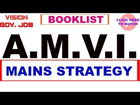 || AMVI-RTO || mains preparation || study plan || book-list || source of material ||
