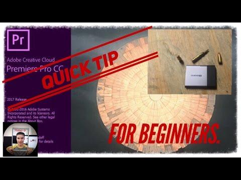 Adobe Premiere Pro CC Tip: Edit Off An External Drive