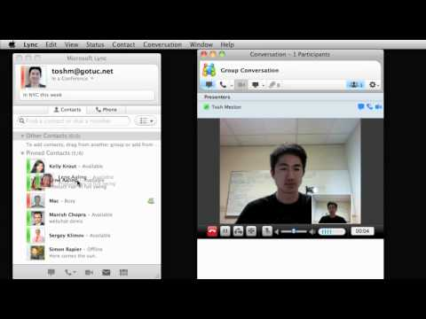 Schedule and run online meetings using Lync for Mac