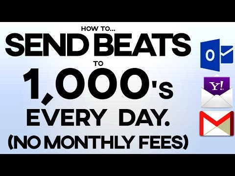HOW TO SEND BEATS TO 1000'S OF RAPPERS EVERYDAY FROM YOUR DESKTOP! WITHOUT MAILCHIMP OR AWEBER