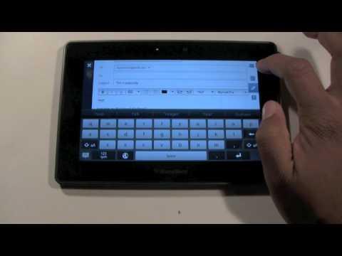 Blackberry Playbook: Sending & Receiving Emails | H2TechVideos