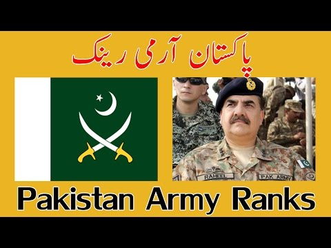 Pakistan Army Ranks Commissioned
