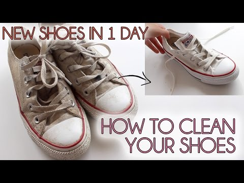 How to clean your shoes EASY |  Converse, vans, canvas shoes