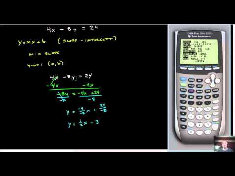 Graph Linear Equations on the TI-83/84