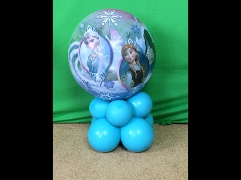 Cute FROZEN Theme Centerpiece with Balloons - DIY Tutorial