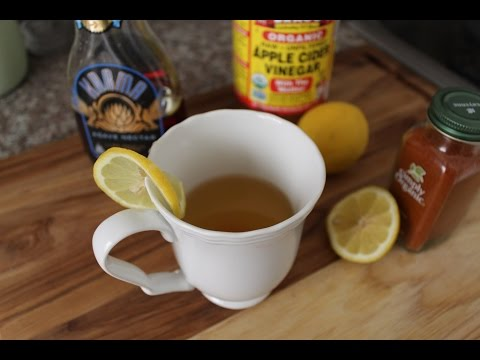 Apple Cider Vinegar and Lemon drink first thing in Morning