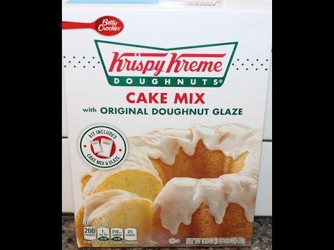 Making Betty Crocker Krispy Kreme Doughnuts Cake Mix