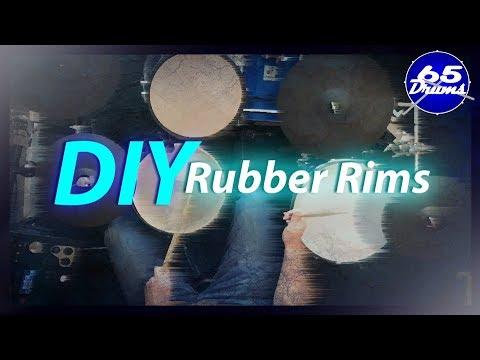 Cheap DIY Rubber Drum Rims