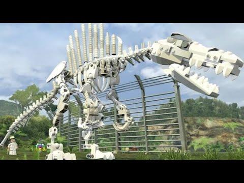 LEGO Jurassic World - All 20 Skeleton Dinosaurs Unlocked (Gameplay Showcase)