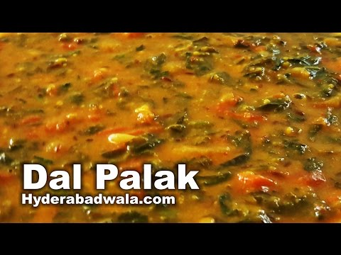 Dal Palak Recipe Video - How to Make Spinach and Lentil Curry - Easy & Simple Hyderabadi Food