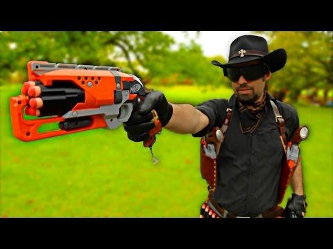 Nerf Gunslinger Loadout - SIX Leather Hammershot Holsters