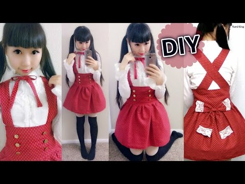 DIY Loyal Wine High Waist Skirt (Side Zipper)+ How to Gather a Skirt | Lolita Inspired Outfit