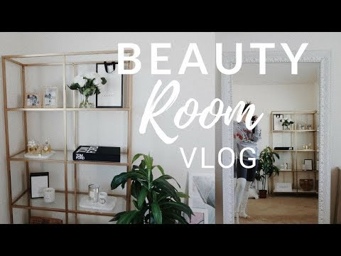 BEGINNING STAGES OF MY BEAUTY ROOM! (Aesthetically Pleasing Room Tour + Vlog)