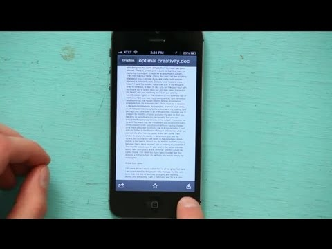 How to Store a Word Document on My iPhone Using Mobile Files : Tech Yeah!
