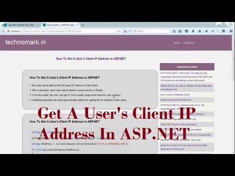 How To Get A User's Client IP Address In ASP NET