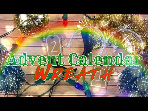 DIY - How to Make:  Advent Calendar Wreath   BLIND BOXES