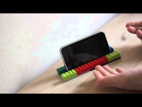 how to make an Iphone stand/docking with lego free at home Iphone 3g/3gs/4/4s/5