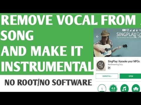 Remove Vocal From Songs and Make them Instrumental from your Phone | No root.😃