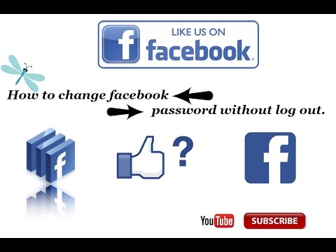 How to change facebook Password without log out.in urdu