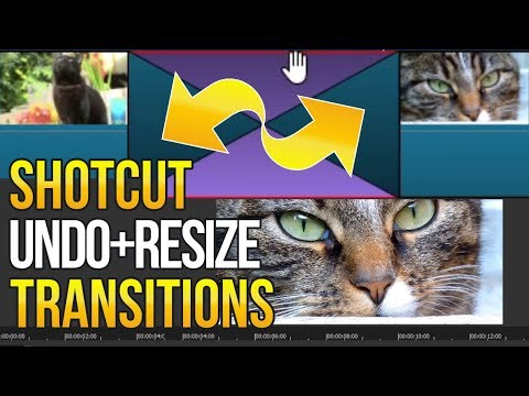 Shotcut: How To Undo or Resize Transitions