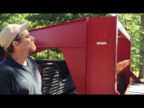 Homemade gooseneck equipment trailer