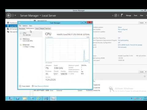 Find up time on Server 2012