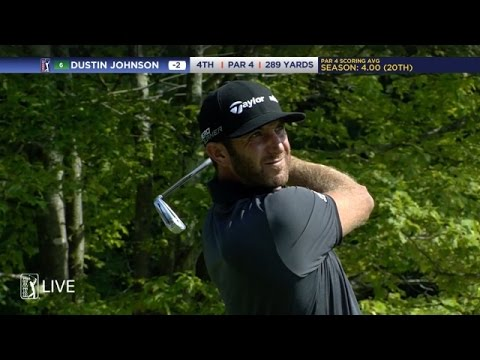 Dustin Johnson drives 289-yard hole with 2-iron at Deutsche Bank