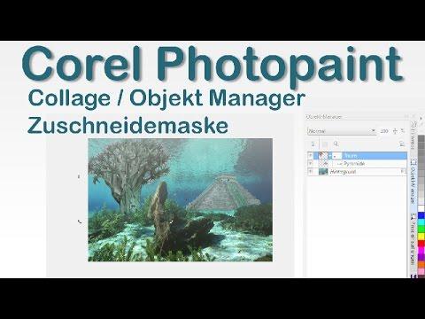 Corel Photopaint, Collage, Objektmanager