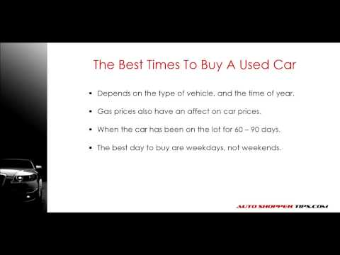 Best time to buy a new or used car