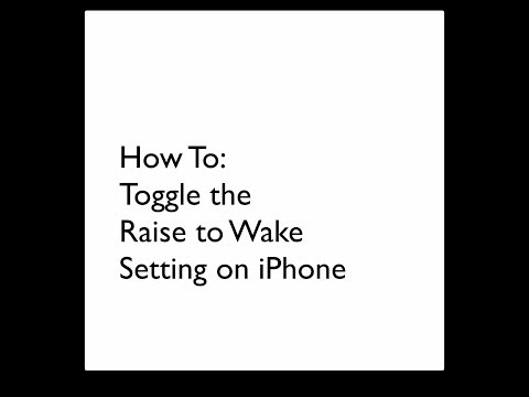 How To: Toggle Raise to Wake on iPhone