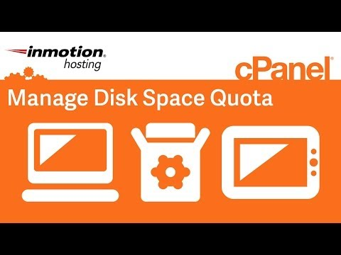 Manage disk space quota in WHM