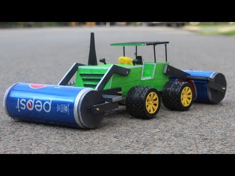 How To Make a Road Roller - road construction vehicle