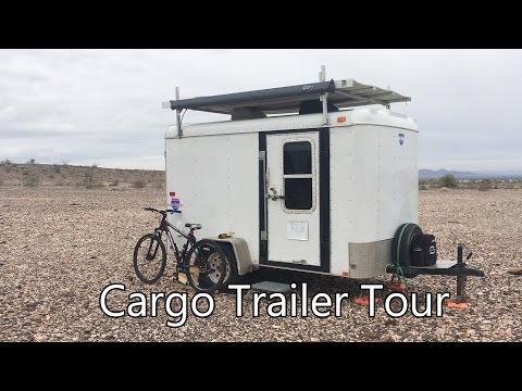 Tour of my Cargo Trailer Camper Conversion