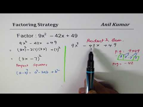 Strategy to Factor Trinomial with Big Numbers