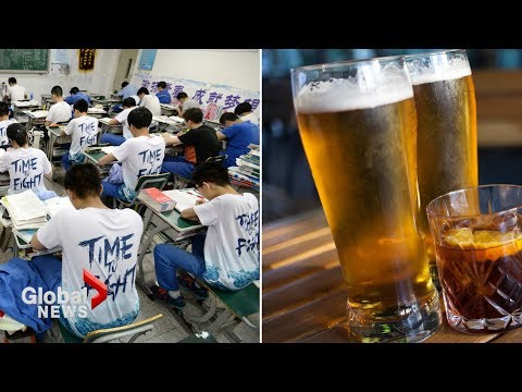 How to get free drinks and China's make-or-break exam in 90 seconds