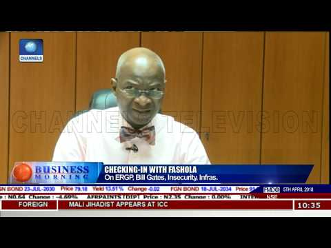 Fashola On ERGP, Bill Gates,Insecurity,Infrastructure Pt.1 |Business Morning|