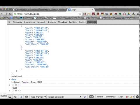 Tutorial: Intro to JSON. Finding data in Javascript objects