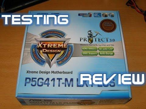 Motherboard Asus P5G41T-M LX PLUS Xtreme Desing Chipset G41 Memory DDR3 Windows 10 Testing
