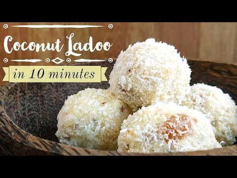 Coconut Ladoo Recipe | quick coconut ladoo recipe with condensed milk | how to make coconut laddu