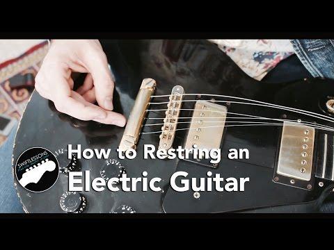 Electric Guitar String Change Lesson - Gibson Les Paul Maintenance