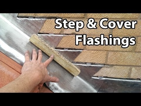 How to Install Step and Cover Flashing - For Roof Tiles and Chimney Flashings