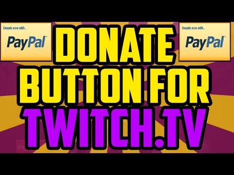 How To Get A Donate Button on Twitch WORKING 2018 USING PAYPAL - Twitch Paypal Donation Button Setup