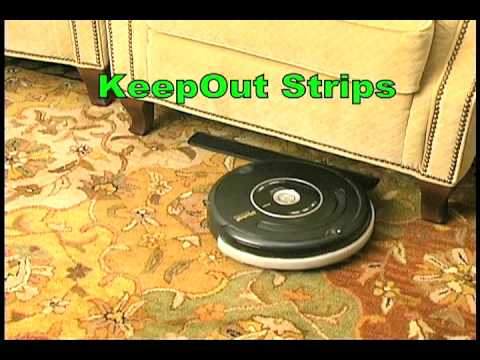 KeepOff and KeepOut Mats for Roomba that Act like Virtual Walls