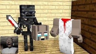 Monster School : GRANNY TROLLING HORROR GAME - Minecraft Animation