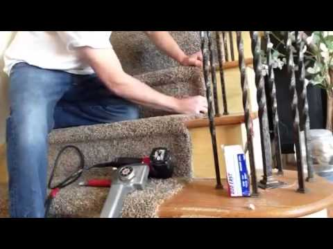 How to install carpet on an open staircase carpettoolz.com