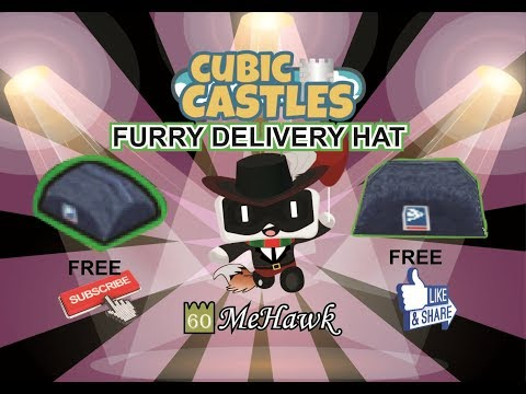 How to get the Furry Delivery Hat for free | Cubic Castles