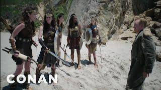 """Conan's """"Wonder Woman"""" Cold Open  - CONAN on TBS"""