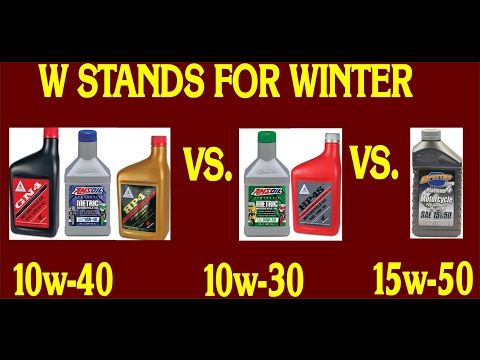 Goldwing Motorcycle OIL Change The W Stands For Winter