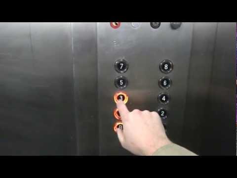 Epic reactions to elevator photography: OTIS Touch Sensitive elevators, Shoenberg Pavilion