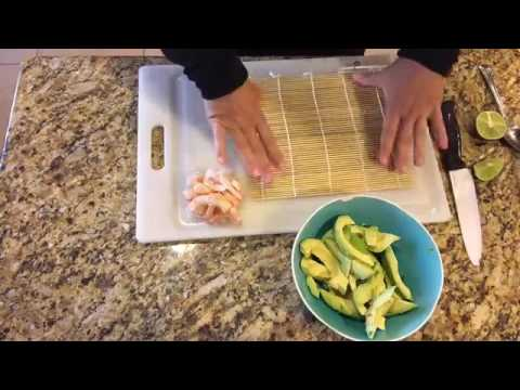 How to Make Easy Sushi Rolls with Shrimp and Avocado
